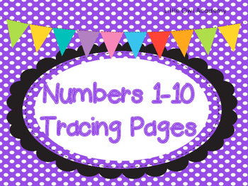 Numbers 1-10 Tracing Pages