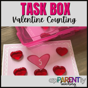 Numbers 1-10 Valentine Counting Center or Activity Box