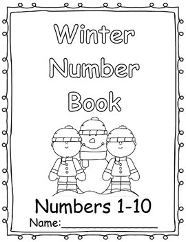 Numbers 1-10 Winter Number Book