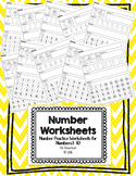Numbers 1 - 10 Worksheets