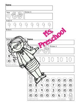 Numbers 1 - 10 Worksheets