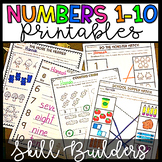 Distance Learning Numbers 1-10 Worksheets