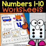 Numbers 1-10 Worksheets Kindergarten : Numbers To 10