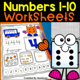 Numbers 1-10 Worksheets For Kindergarten - Kinder Math