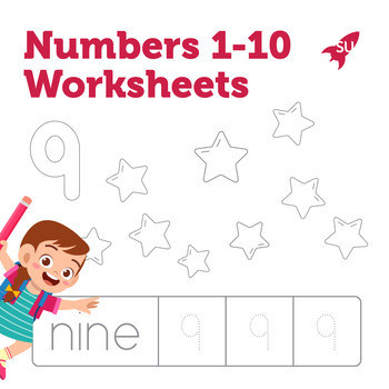 Numbers 1-10 Worksheets + Coloring Pages