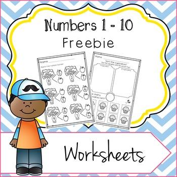 Numbers 1 - 10 Worksheets Freebie