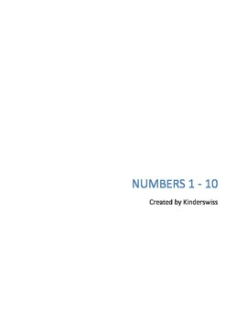 Numbers 1 - 10 and Number Words One - Ten