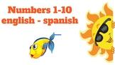 Numbers 1-10 english - spanish