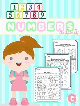 Numbers 1-10 for Kindergarten