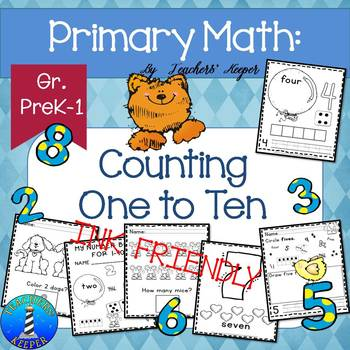 Counting and Identifying Numbers 1-10 for Preschool & Kindergarten