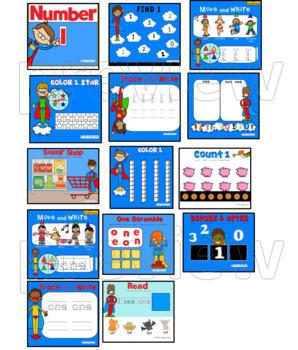 Numbers 1-10 for SMARTboard Bundle