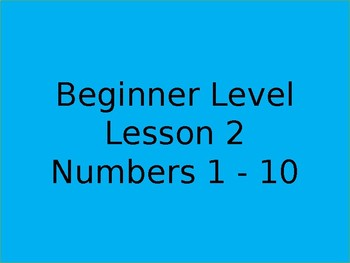 Numbers 1 - 10 for beginners