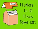 Numbers 1-10 house paper craft