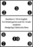 Numbers 1-10 in English for Kindergarten and 1st. Grade- F