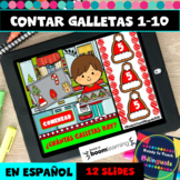 Numbers 1-10 in Spanish - Counting Christmas Cookies - Boom Cards