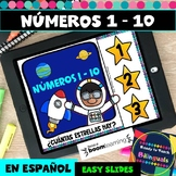 Numbers 1-10 in Spanish - Counting Stars - Boom Cards -Dis