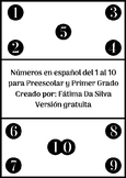 Numbers 1-10 in Spanish - Free Version - Números 1 al 10 e
