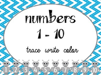 Numbers 1-10 (morning work)