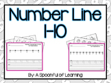 Numbers 1-10 on a Number Line