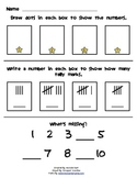 Math - Numbers 1-10 practice page