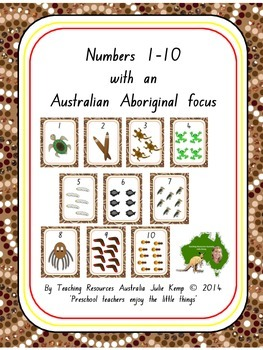 Numbers 1-10 with an Australian Aboriginal focus | TpT