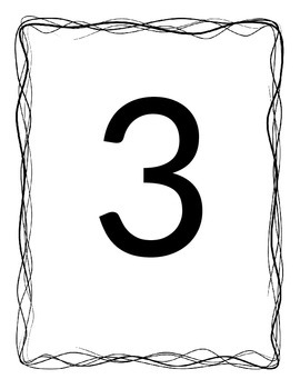 Numbers 1-10 with border