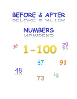 Numbers 1-100 Before & After