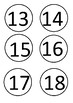 Numbers 1-100 Circles
