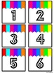 Numbers 1 - 100 ~ Theme BRIGHT STRIPES ~ Calendar ~ Math ~ Organize ~ FREE