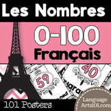 Numbers 1-100 French posters   Affiches des nombres 0-100 français