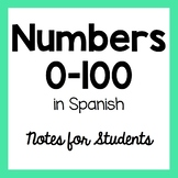 Numbers 1-100 in Spanish Handout