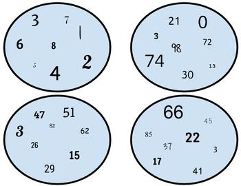 """Numbers 1-100 """"Spot It"""" Style Game"""