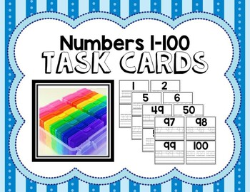 Numbers 1-100 Task Cards