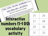 Numbers 1-100 Vocabulary Practice