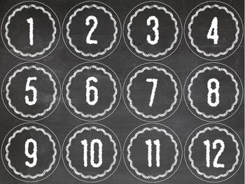 Numbers 1 - 100 (chalkboard)