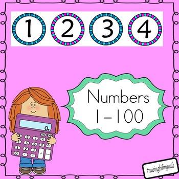 Numbers 1-100 (rainbow edge)