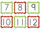 Numbers 1-100 (red and green)