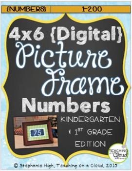 Numbers 1-200: KINDERGARTEN/1ST GRADE Edition { Digital Picture Frame 4x6 }