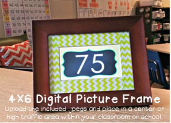 Numbers 1-200: KINDERGARTEN/1ST GRADE Edition { Digital Picture Frame 4x6 }