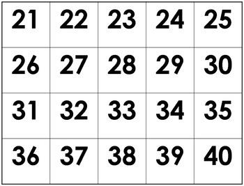 Numbers 1-100/Números del 1-100