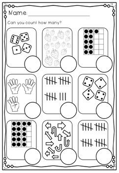 Numbers 11 - 20 No Prep Worksheets Number Bonds, Ten Frames, Tally Marks & More