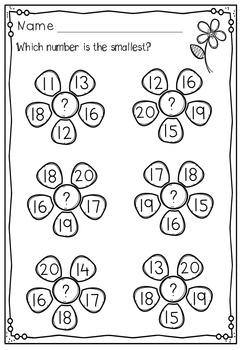 Numbers 11 - 20 No Prep Worksheets Number Bonds, Ten Frames, Tally ...