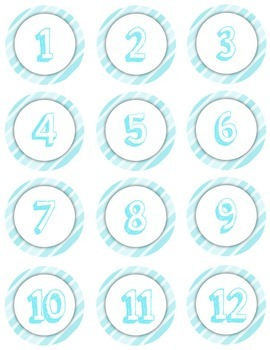Numbers 1-12