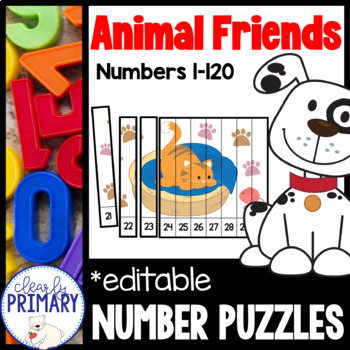 Numbers 1-120: Animal Friends Number Puzzles