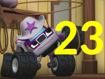 Numbers 1-120 Blaze and the Monster Machines