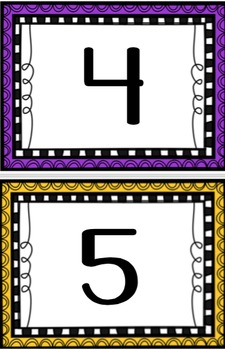 Numbers 1-120 Cards
