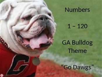 Numbers 1-120 GA Bulldogs
