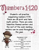 Numbers 1-120 Instant Math Centers