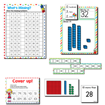 Numbers 1-120 Place Value   1st Grade Math Centers