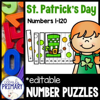 Numbers 1-120: St. Patrick's Day Number Puzzles